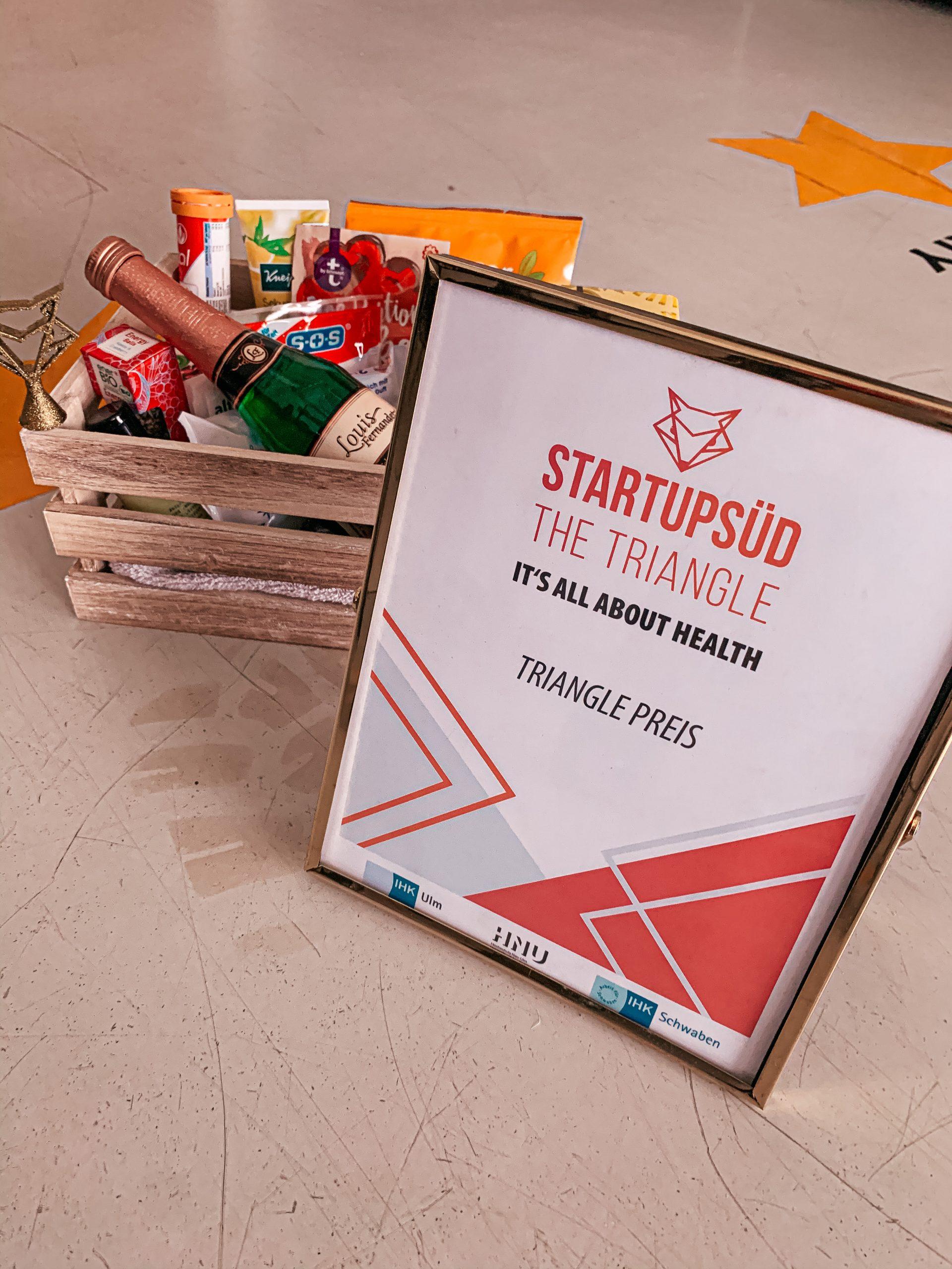 Triangle Preis der Kategorie Health - StartupSÜD